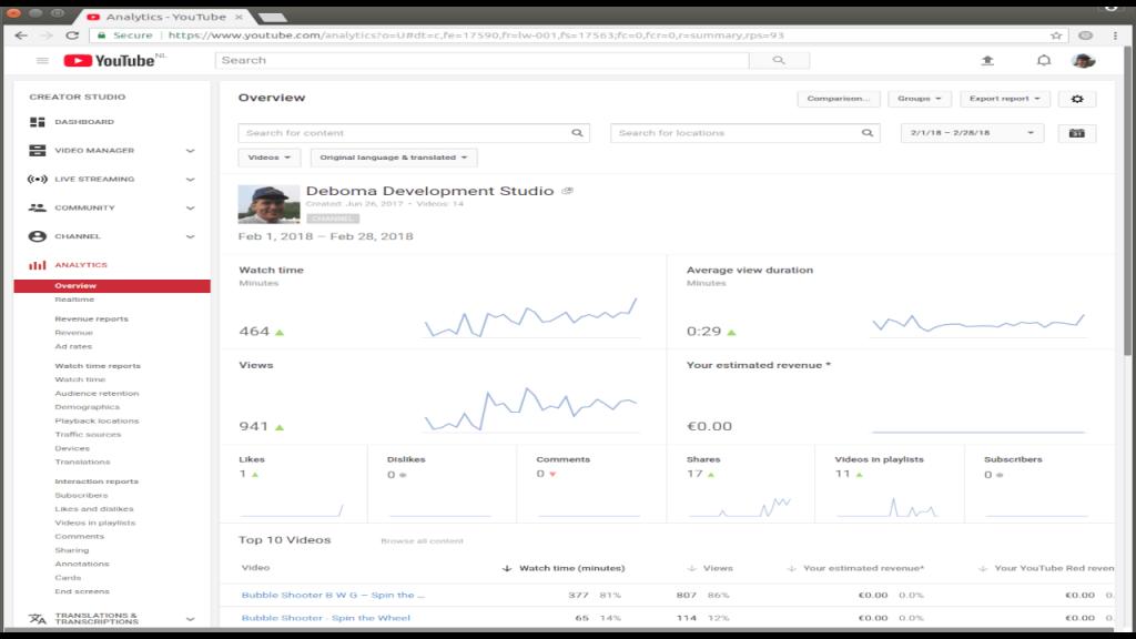 YouTube monetization February 720p